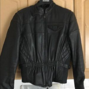 Harley Davidson leather riding jacket with liner